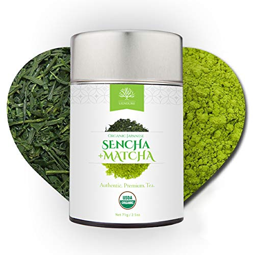 Sencha Loose Leaf Green Tea Mixed with Matcha Powder - Certified Organic -...