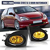 AUTOFREE Fog Lights for 2002-2005 Honda Civic Si Hatchback 3 Door with H11...