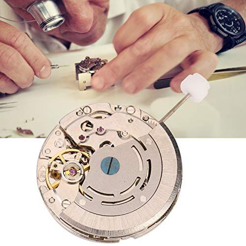 Esfera blanca con letras negras Movimiento duradero con día y semana para mostrar la fecha Metal precioso, para reloj