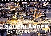 Sauerlaender Fachwerkidylle (Wandkalender 2022 DIN A2 quer): Fachwerkhaeuser im Sauerland (Monatskalender, 14 Seiten )