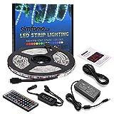 Simfonio Tiras Led RGB 5 Metros 300 Leds 5050 SMD Tira LED de Luces LED Kit Completo