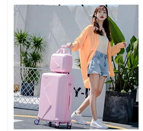 NTR Luggage sets Suitcase set travel Baggage Suitcase 24 Inch luggage suitcase for Travel Trolley Bags wheels,pink set,20'