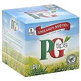 PG Tips Black Tea, Pyramid Tea Bags, 40 ct, 2 pk