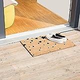 Relaxdays Fußmatte Kokos Motiv STERNE 40 x 60 Kokosmatte mit rutschfester PVC Unterlage Türmatte und Fußabtreter aus Kokosfaser als Schmutzfangmatte und Sauberlaufmatte oder Türvorleger, schwarz - 3