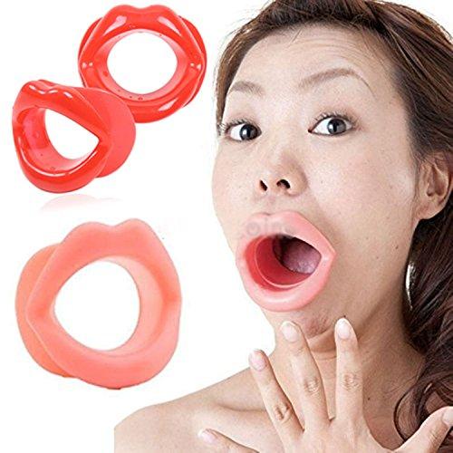 Tappi per la bocca sottili labbra in gomma siliconica movimento facciale oggetti di scena a forma di viso oggetti di scena di Halloween