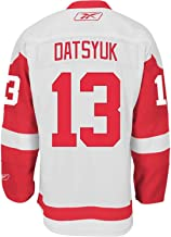Reebok NHL Detroit Red Wings # 13 Pavel Datsyuk Blanco Premier Hockey Jersey