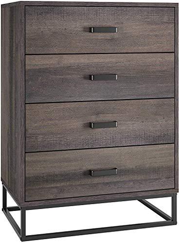 HOMECHO Kommode mit 4 Schubladen Anrichte Sideboard Schubladenkommode Schubladenschrank für Schlafzimmer Wohnzimmer 60x83,2x38,6 cm…