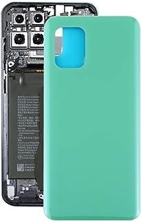 QFH replacement parts Glass Material Battery Back Cover for Xiaomi Mi 10 Lite 5G(Black) الغطاء الخلفي لبطارية الهاتف المحم...