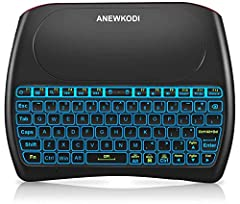 4 in 1 Multifunction: 2020 Latest Version 2.4 Ghz Mini Wireless Keyboard + Mouse + The Handle + Remote Control. No extra clutter as it is connected via the included USB dongle (No Bluetooth supported). Just pair the USB keyboard with your computer an...