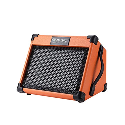 Coolmusic 20W tragbarer Akustikgitarrenverstärker mit Mikrofoneingang, integriertem Bluetooth