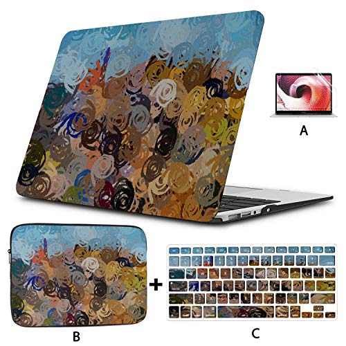 MacBook Pro 15in Case Murals Color Colors Polychrome Stain Stains Slick MacBook Air Case Hard Shell Mac Air 11'/13' Pro 13'/15'/16' with Notebook Sleeve Bag for MacBook 2008-2020 Version