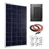 Giosolar Panel solar de 100 W de alta eficiencia de polietileno PV Panel con MPPT 40A controlador solar para autocaravana, caravana, camping, barco/yate