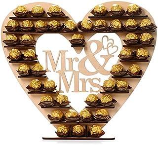 ASVP Shop® Mr & Mrs Ferrero Rocher Heart Tree Wedding Display Stand Centrepiece by ASVP Shop