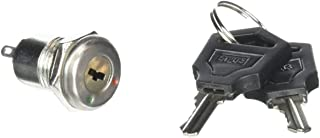 Uxcell AC 250V 0.5 Amp 2 Terminals On Off Tubular Key Lock Switch