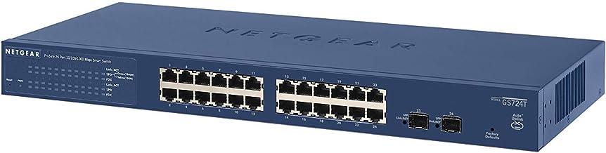 Netgear GS724T-400EUS ProSAFE - Switch gestionable, Azul, 24 puertos