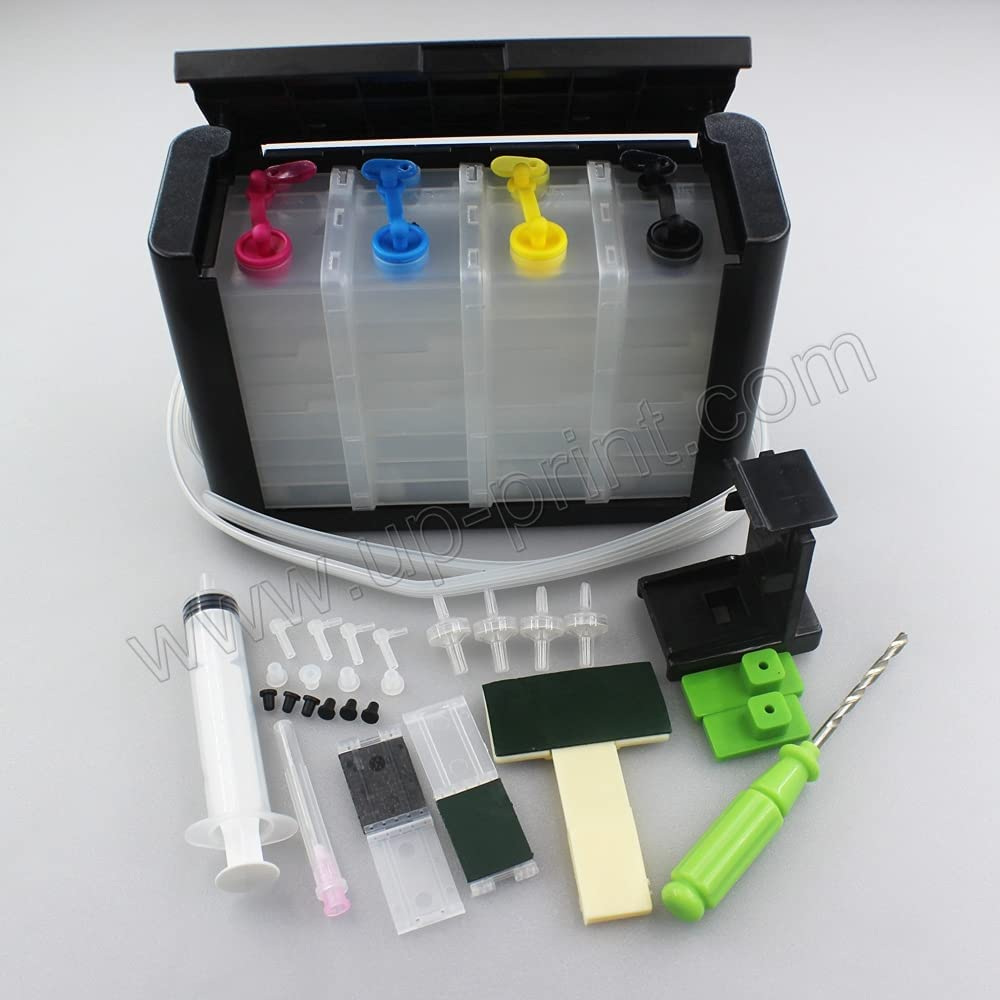 UPink Continuous Ink Supply System CISS Ink Tank DIY Kits for HP 21 22 60XL 61XL 62XL 63XL 64XL 65XL 92XL 94XL 901XL 56XL 57XL 58XL 650XL 652XL Ink Cartridge