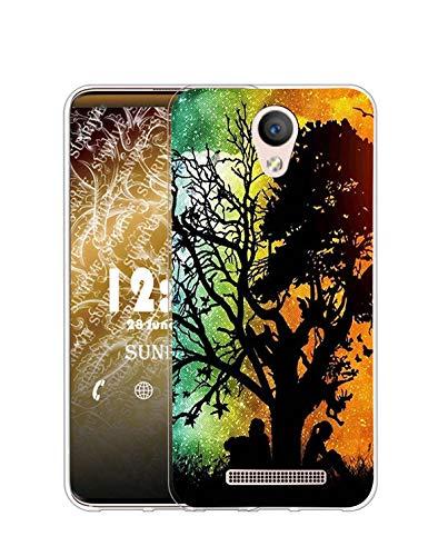 Sunrive Kompatibel mit DOOGEE X6 Pro Hülle Silikon, Transparent Handyhülle Schutzhülle Etui Hülle (Q Baum)+Gratis Universal Eingabestift MEHRWEG