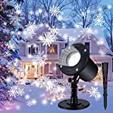 Christmas Projector Lights Outdoor, Indoor Christmas Snowfall LED...