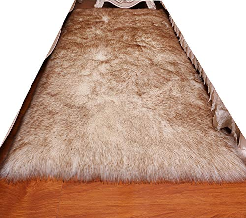 Rectangle Faux Fur Sheepskin Rug