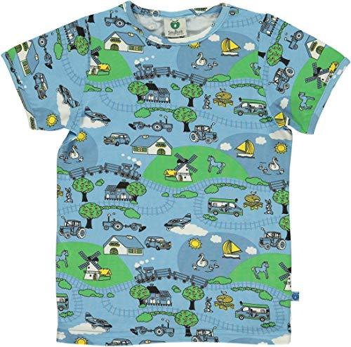 Smafolk T-Shirt hellblau mit Landschaft Größe 98/104