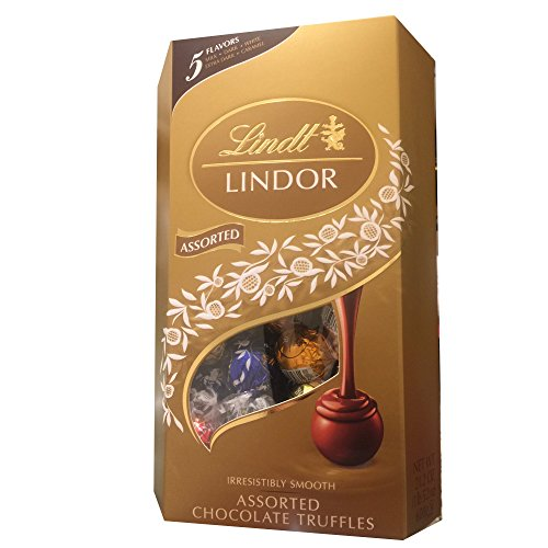 Lindt Lindor Assorted Chocolate Truffles Gift Box, 5 Flavors, 21.2 Ounces
