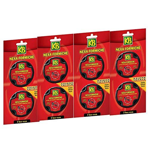 KB Nexa Formiche insetticida Pronto all'Uso (4 Confezioni) 8 Box Esca