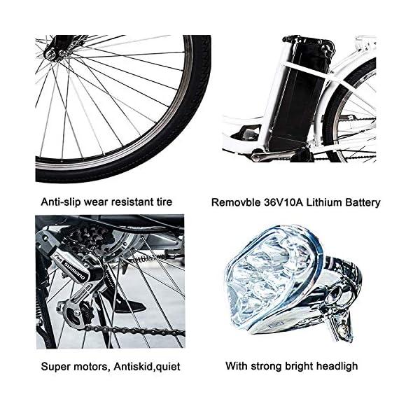 NAKTO 26 250W Cargo Electric Bicycle closeup