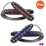 Redify 2 Pack Adjustable Jump Rope for Workout, Fitness Jump Rope for Men Women and Kids, Speed...
