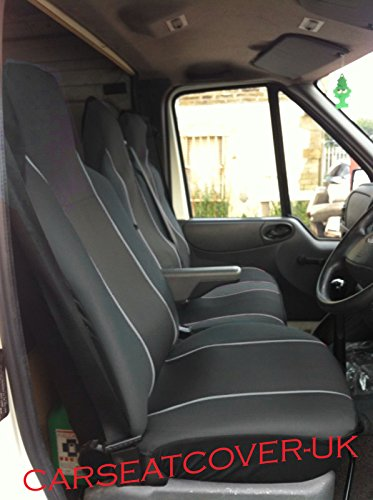 VW CRAFTER 2006-2018 RIGHT HAND DRIVE ECO BLACK-RED LEATHER Seat Covers 2+1 1 single 1 double Texmar Designet to fit MERCEDES SPRINTER 2006-2018