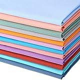 12 Paquetes de Tela Acolchada Sólida Grande Tela de Algodón de 20 x 16 Pulgadas/ 50 x 40 cm Patchwork Acolchado Artesanal para Manualidades de Scrapbooking (Colores Mezclados)