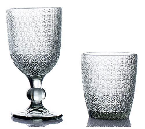 kedea Bicchieri Acqua Colorati in Vetro, Calici Vino Colorati in Vetro, Lavabili in lavastoviglie, Bicchieri e Calici in Pasta Colore Lavabili in Lavastoviglie, Pave' Nero Fume'.
