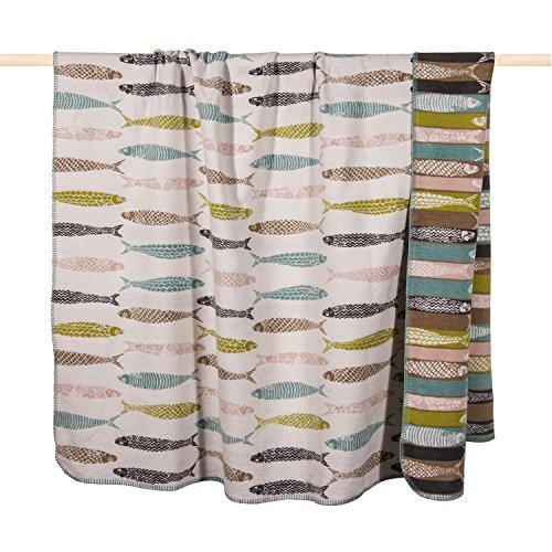 pad - Decke, Wohndecke, Kuscheldecke - Sardine - Dusty Aqua - 150 x 200 cm