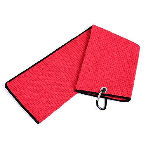 Mile High Life Microfiber Waffle Pattern Tri-fold Golf Towel