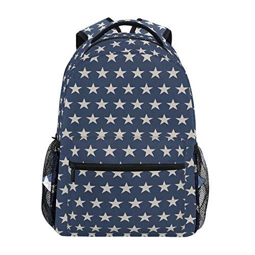 DISLONLY Rucksack Sporttasche Freizeittasche,Patriotischer Stern der festlichen Unabhängigkeit der amerikanischen Flagge themenorientierte Symbol-Freiheit
