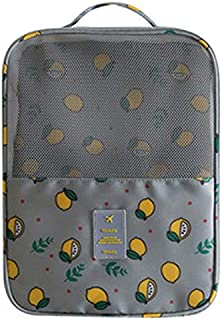 TOOGOO Waterproof Nylon Sorting Pouch Portable Shoes Storage Bag Zip Lock Travel Luggage Organizers Home Closet Organizer Accessories Gray