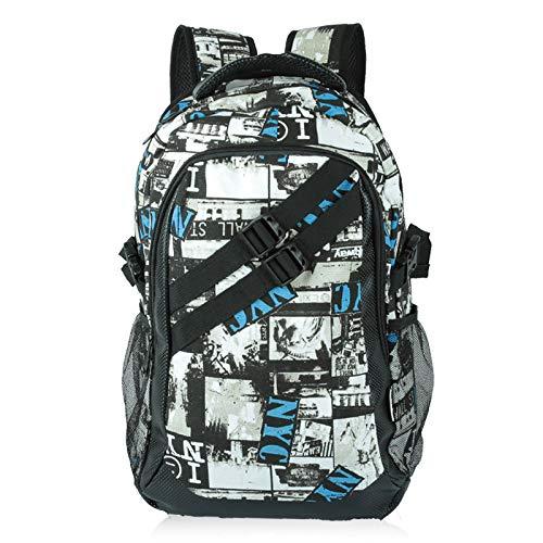 NCIFUN Sac à bandoulière pour Homme Sac à Dos Fille Chao High School Student Bag Affaires Loisirs Ordinateur Voyage Sac à DosPetit Bleu