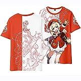 YZZR Genshin Impact T-Shirt Klee, Juego de Anime Manga Corta Ropa de Deporte Disfraz para Unisexod