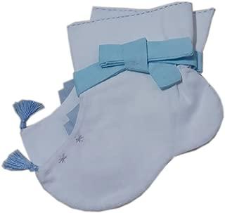 Korean Hanbok Traditional Socks Boys Girls Costumes 12 Months Cotton White/Blue Ribbon so101
