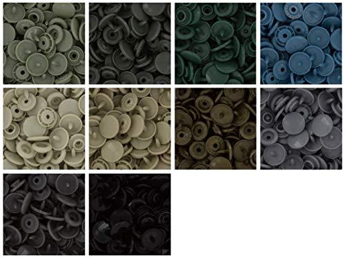 Starter Pack de 250gamuza de juego completo de Kam Snaps/plástico Snap para pañales/baberos/unpaper toallas/pañales/botones/Mama almohadillas