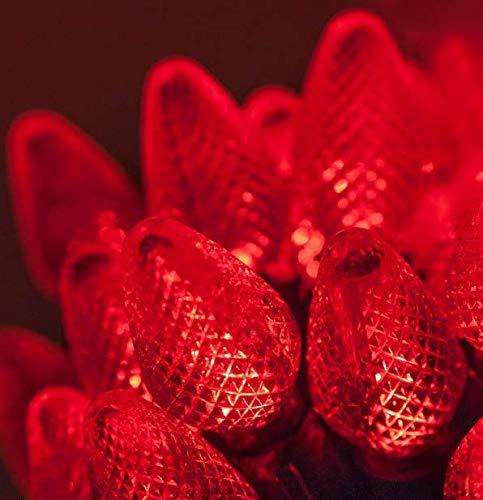 String Lights LED Christmas Light Set C7 Indoor Outdoor Size 5 m Voltage 120v Get 25 Red Color #CMS01YN