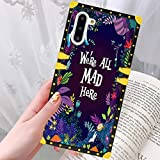 DISNEY COLLECTION Samsung Galaxy Note 10 Case for Alice in Wonderland Pattern Design Glitter Luxury Slim Shockproof Bumper Protective Cover for Galaxy Note 10 6.3 inch