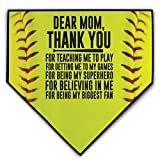 ChalkTalkSPORTS Softball Stiches Home Plate Plaque | Dear Mom | Ready to Autograph