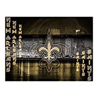 MAATUD Wooden Jigsaw Puzzle Set, New Orleans Saints Color Montessori Toy, Fine Motor Skill Early Learning Preschool Educational Gift Game for 2 3 4 5 Years Old Kid Toddler