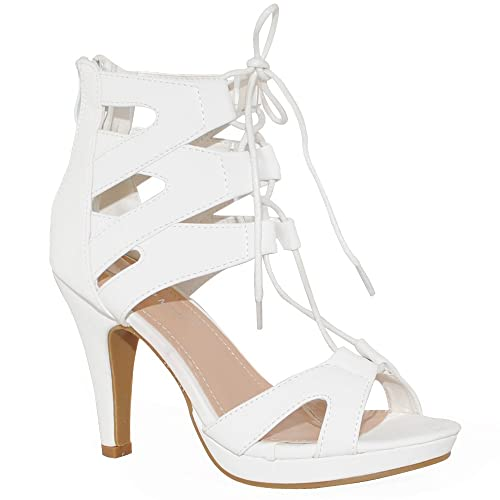 678e39537ef8 TRENDSup Collection Women Fashion Gladiator Lace Up Sandals