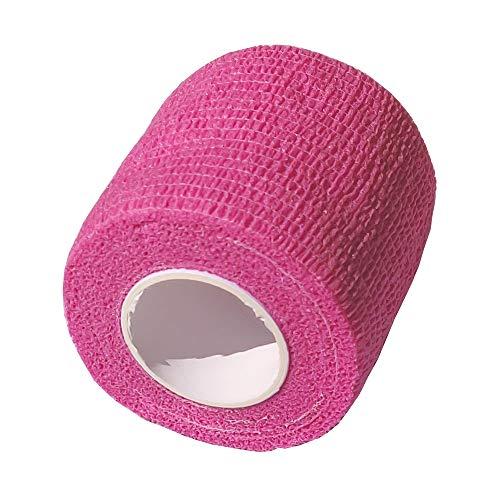 CK-Shop® Selbstklebender Verband für Haustiere, Kohäsive Fixierbinde, elastischer Fixierverband, Haftbandage, Tape - 5 cm x 4.5m in Pink