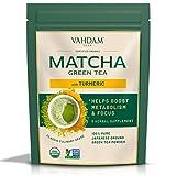 CÚRCUMA + MATCHA Té Verde En Polvo - MEJORES MEZCLAS DE SUPERFOODS (100g, 50 tazas), Polvo de Matcha Japonés 100% Puro y Sin Mezclar, 137x ANTIOXIDANTES | Aumenta la energía y el metabolismo
