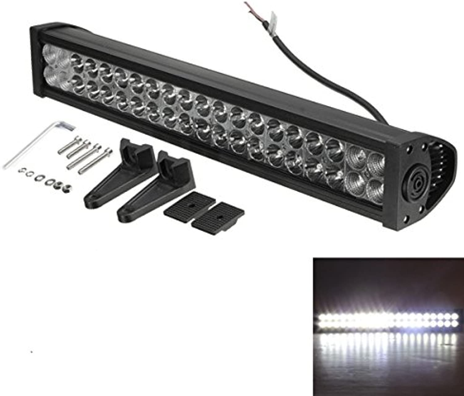 Motorcycle Lights 24Inch 120W 12-30V LED Light Lamp Bar Spot Flood Combo Off Road ATV SUV Boat