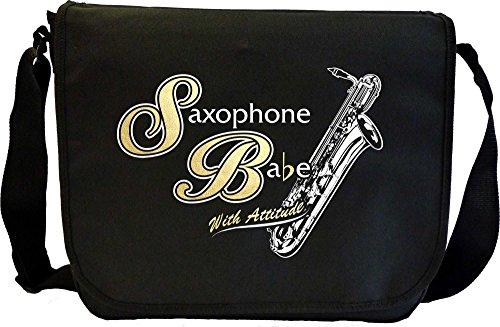 Musicalitee Saxophone Sax Baritone Saxophone Babe Attitude - Sheet Music Document Bag Musik Notentasche