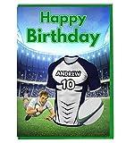 Maillot de rugby sur le thème carte d'anniversaire–Agen Couleurs–personnalisé avec un nom et numéro