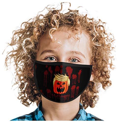 SUMTTER Mundschutz mit Motiv, Einmal Mund und Nasenschutz, Halbes Gesicht Schützen, Face Shield für Mund Nase, GesichtsSchals AtmungsaktivMund Protection Mädchen Junge(1PC)